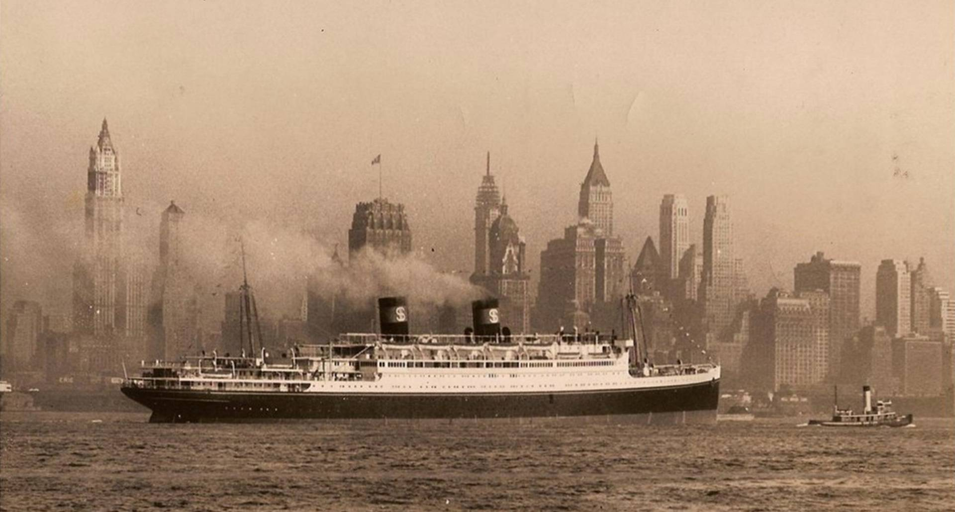 The SS President Coolidge in New York